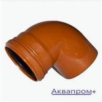 ПВХ Отвод 110х87 наружняя канализация (15)