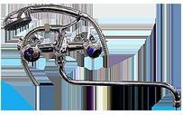 Ванна KEIL керамика ABS 50588, мет. маховик