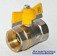 """Кран шаровый д/газа    3/4"""" г/г    б-ка"""