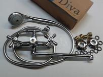 Ванна керамика DIVA люкс (плоский нос) Крест