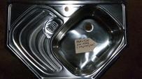 Мойка врезная 760х510 угловая с размороз.(0,6 мм)
