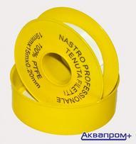 Фум-лента большая желтая  (19мм-15м-0,2мм)