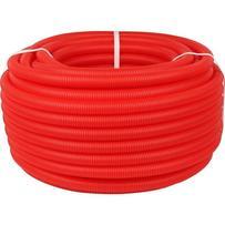 Труба гофрированная ПНД, d-20мм (вн.d 14-18) красная