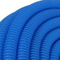 ыТруба гофрированная, d-25мм (вн.d-18,3) синяя 50м