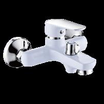 Смеситель для ванны LEMEN LС-3313W ф35 короткий нос, белый-хром