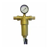 Пред. фильтр с манометром  3/4 VER для гор. воды