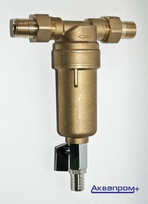 Пред. фильтр без манометра 1/2 TIM для гор.воды