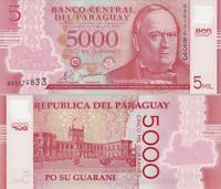 5000 гуарани 2011 Парагвай.