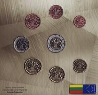 Набор евро монет 2015 Литва. Буклет.