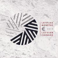 Набор евро монет 2015 Латвия. Буклет.