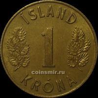1 крона 1974 Исландия.