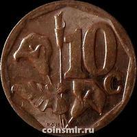 10 центов 2015 Южная Африка.