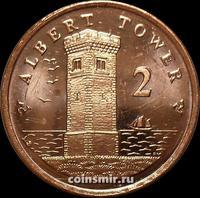 2 пенса 2007 Остров Мэн.Башня Альберта.