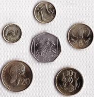 Набор из 6 монет 2001-2003 Кипр.