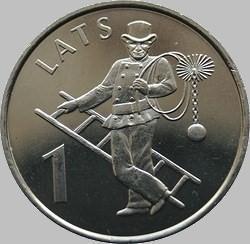 1 лат 2008 Латвия. Трубочист.