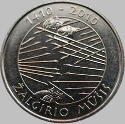 1 лит 2010 Литва. 600 лет Грюнвальдской битве.