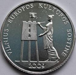 1 лит 2009 Литва. Вильнюс – культурная столица Европы.