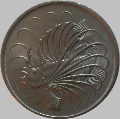 50 центов 1971 Сингапур. Рыба-лев. (в наличии 1980 год)