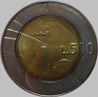 500 лир 1990 Сан-Марино. 1600 лет истории