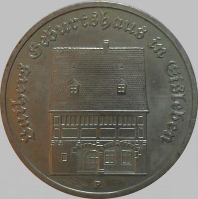 5 марок 1983 ГДР. Дом Мартина Лютера в Эйслебен.