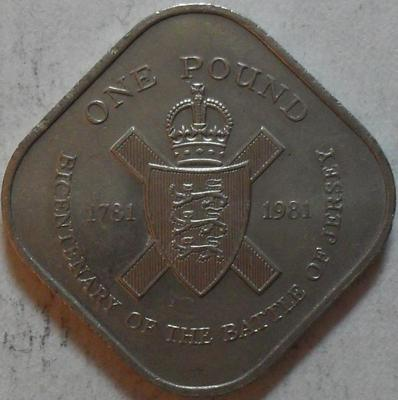 1 фунт 1981 Джерси.