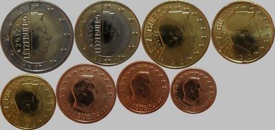 Набор евро монет 2012 Люксембург. (в наличии 2013 год)