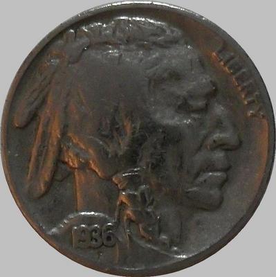 5 центов 1936 США. Индеец.