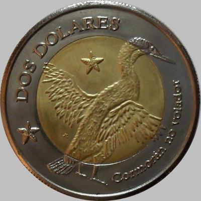2 доллара 2008 Галапагосские острова.