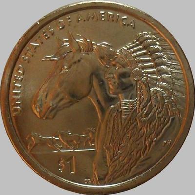 1 доллар 2012 Р США. Индеец.