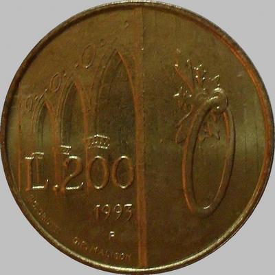 200 лир 1993 Сан-Марино.