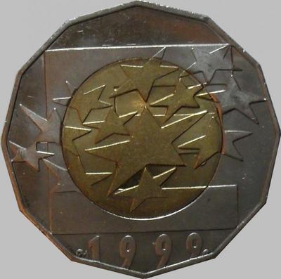 25 кун 1999 Хорватия. Европейская валюта - ЕВРО.