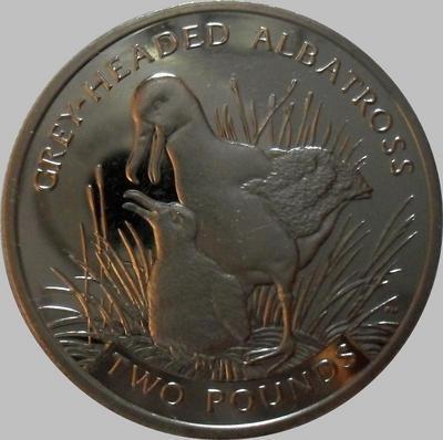 2 фунта 2006 Южная Георгия и Южные Сандвичевы острова. Сероголовый Альбатрос.