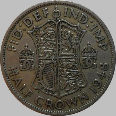 1/2 кроны 1948 Великобритания.