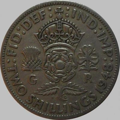 2 шиллинга 1948 Великобритания.