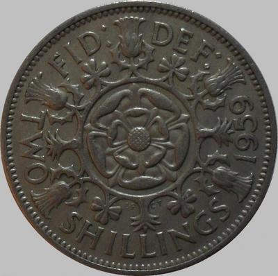 2 шиллинга 1959 Великобритания.