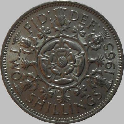 2 шиллинга 1965 Великобритания.