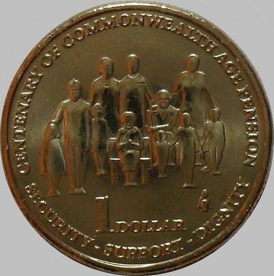 1 доллар 2009 Австралия. Пенсионеры.