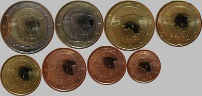 Набор евро монет 2011 Эстония.