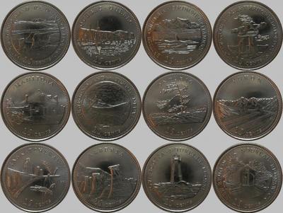 Набор из 12 монет 1992 Канада. Провинции Канады.