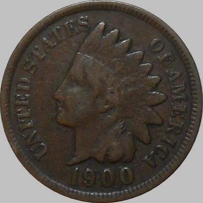 1 цент 1900 США. Индеец. (в наличии 1904)