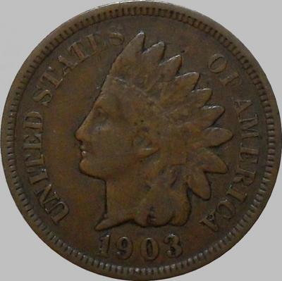 1 цент 1903 США. Индеец.