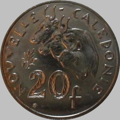 20 франков 2010 Новая Каледония. (в наличии 2009 год)