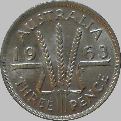 3 пенса 1963 Австралия.