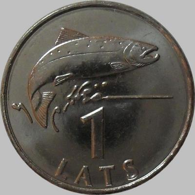 1 лат 2008 Латвия. Лосось.