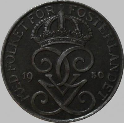 5 эре 1950 Швеция. Железо.