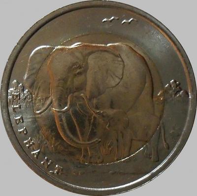 1 лира 2009 Турция. Слоны.