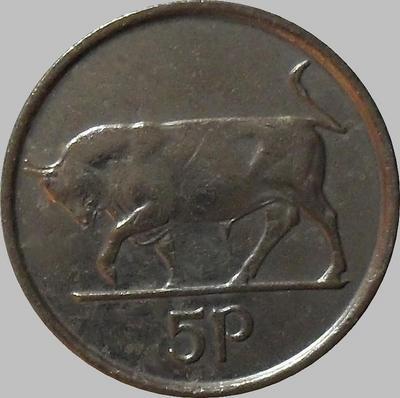 5 пенсов 1993 Ирландия. Бык.
