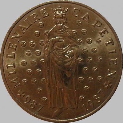 10 франков 1987 Франция.  Гуго Капет.
