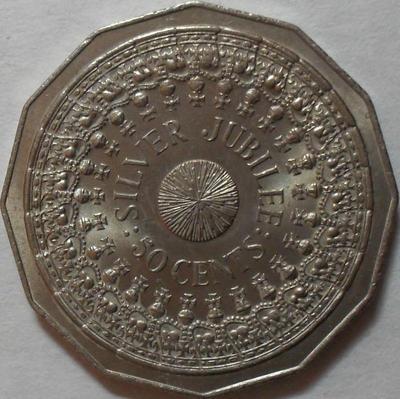 50 центов 1977 Австралия. 25 лет правления.