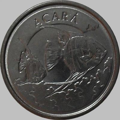 1000 крузейро 1993 Бразилия. Рыба Акара.